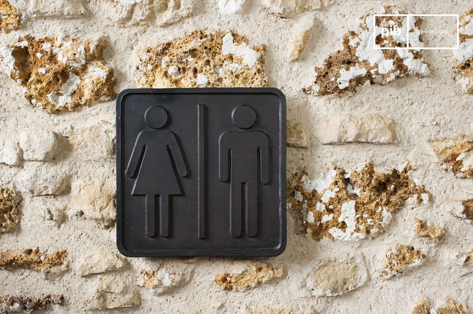 Plaque wc en bronze touche d co m tal pour un pib - Plaque de porte wc design ...