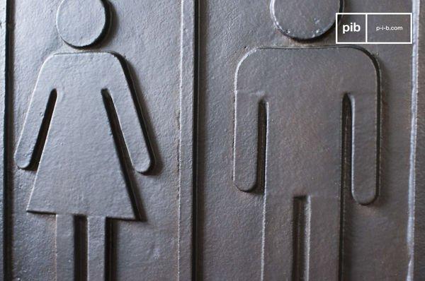 Plaque WC en bronze