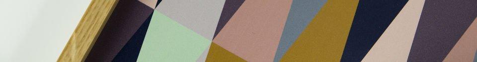 Mise en avant matière Plateau style vintage Remix