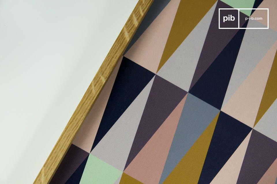 Un motif graphique et coloré pour une touche vintage