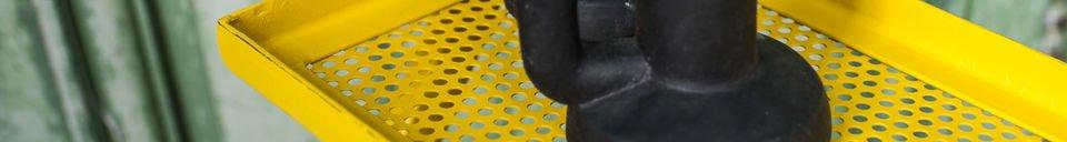 Mise en avant matière Portant métallique Leffie