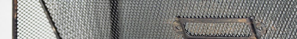 Mise en avant matière Porte-documents mural grillagé
