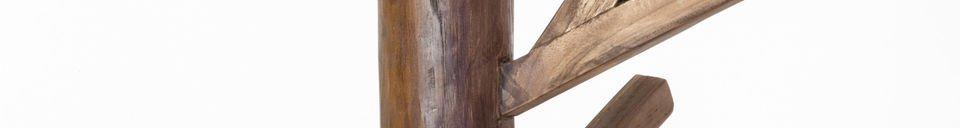 Mise en avant matière Portemanteau en bois Camille