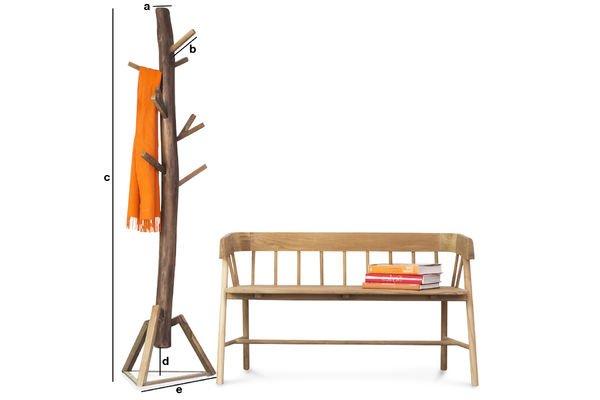 Dimensions du produit Portemanteau en bois Camille