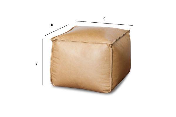 Dimensions du produit Pouf en cuir Marsliden