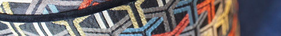 Mise en avant matière Pouf en tissu graphique Toumani