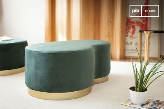 Pouf haricot deux places Dallas