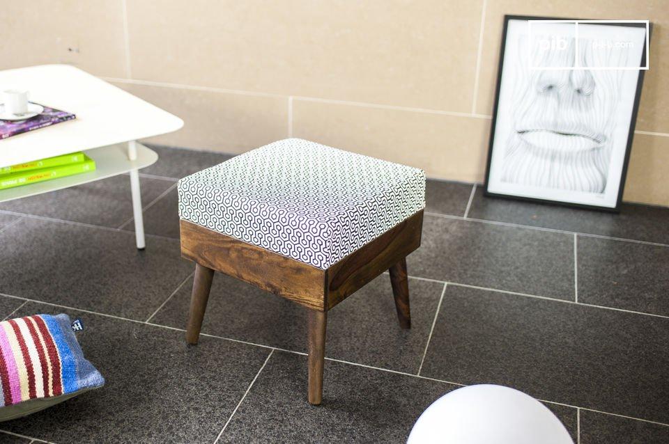 Assise d'appoint ou repose-pieds au design vintage