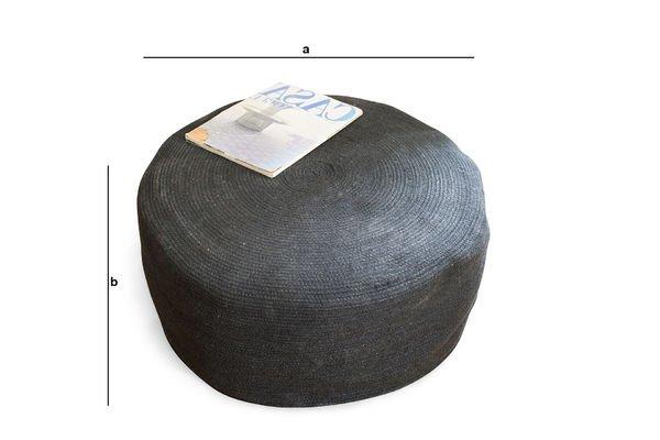 Dimensions du produit Pouf Sissal
