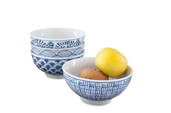 Quatre bols en porcelaine Blue Lagoon Détouré