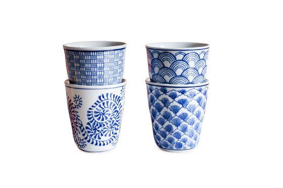 Quatre tasses en porcelaine Blue Lagoon Détouré