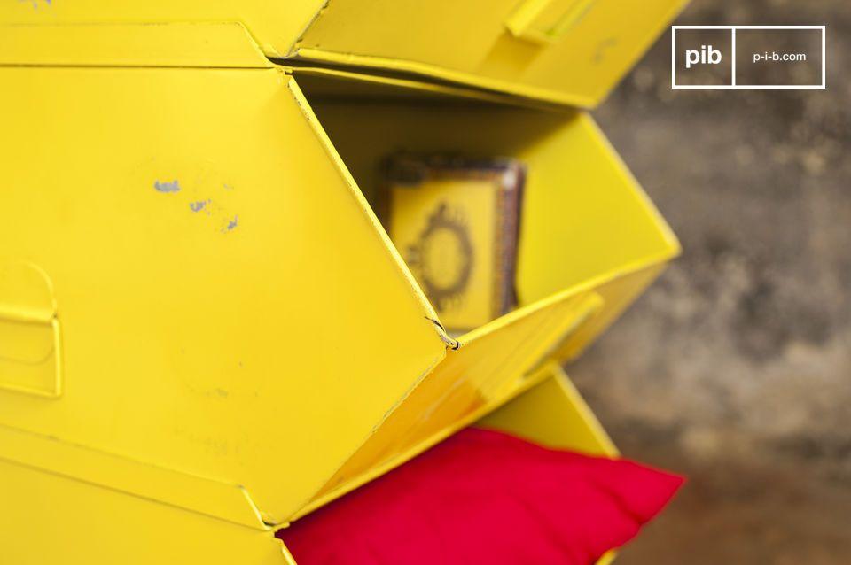 Une commode modulable au style industriel haut en couleur