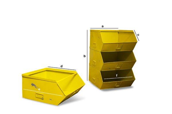 Dimensions du produit Rangement 4 bacs Félix