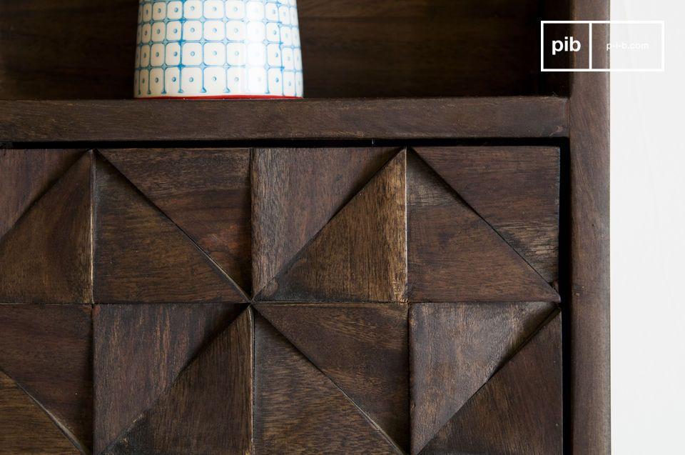 Le rangement mural Balkis est une etagere en bois aussi esthétique que pratique