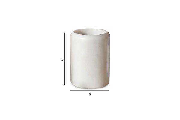 Dimensions du produit Récipient en marbre blanc Wäg