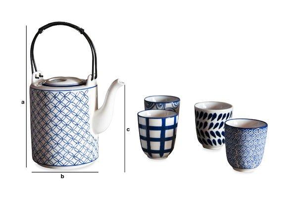 Dimensions du produit Service à thé Hivana