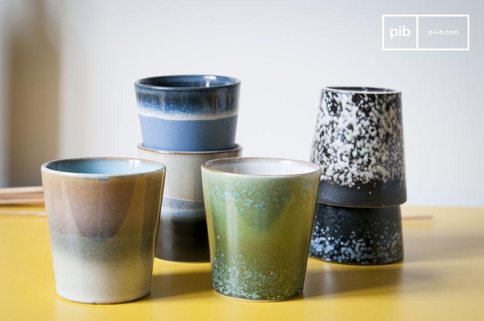 Six tasses à café Ceramix