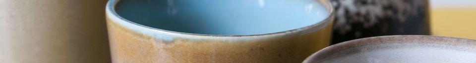 Mise en avant matière Six tasses à café Ceramix