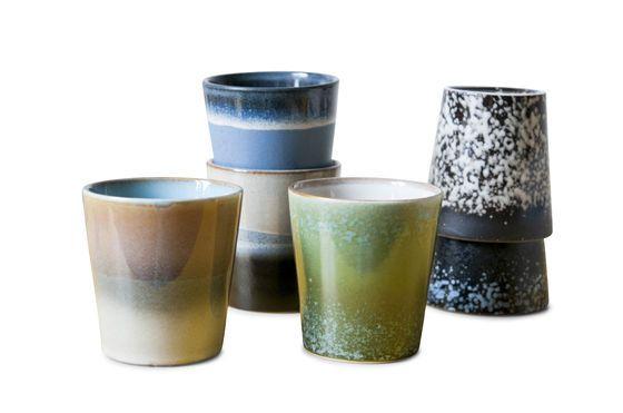 Six tasses à café Ceramix Détouré