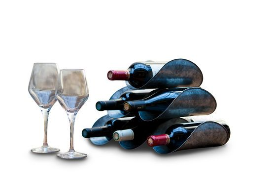 Support de bouteilles en tôle patinée Détouré