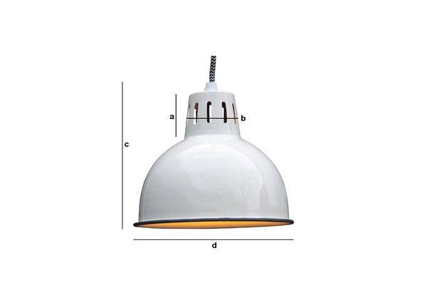 Dimensions du produit Suspension blanche Snöl