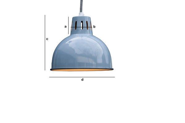 Dimensions du produit Suspension bleue Snöl