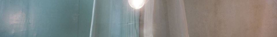 Mise en avant matière Suspension Cloche en verre