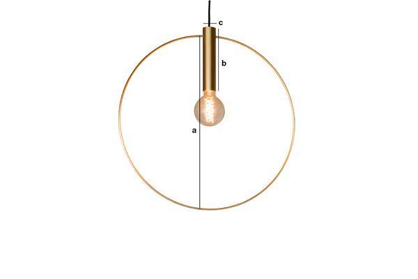 Dimensions du produit Suspension dorée Oohalt