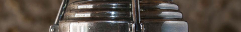 Mise en avant matière Suspension en verre Hoonui