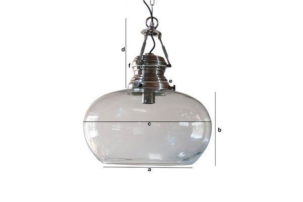Dimensions du produit Suspension en verre Hoonui