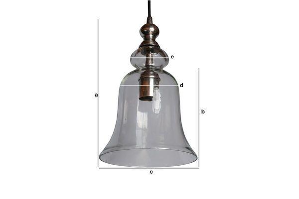 Dimensions du produit Suspension en verre Sweet Bell