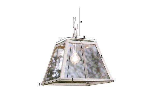 Dimensions du produit Suspension Serre 26 cm