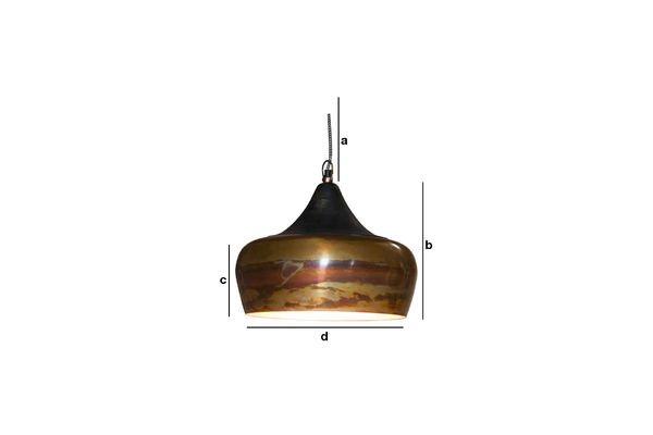 Dimensions du produit Suspension Skaal