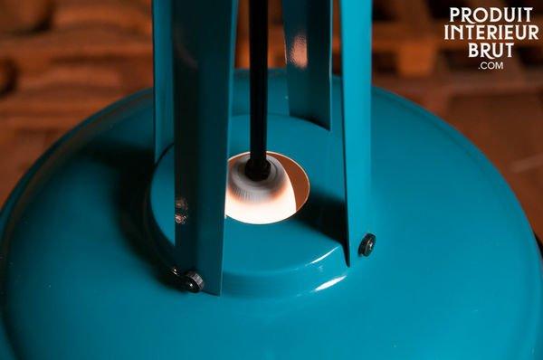 Suspension Walter Bleue Petrole detail