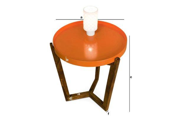 Dimensions du produit Table à plateau amovible Stockholm