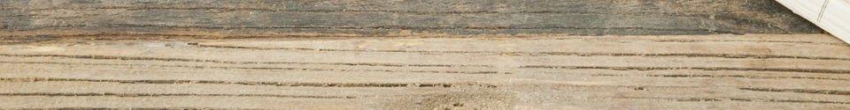 Mise en avant matière Table à rabats en orme ancien