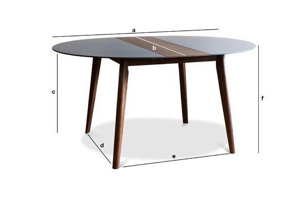 Dimensions du produit Table à rallonge Cristina