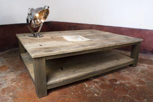 Table basse à Losanges métalliques