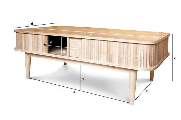 Dimensions du produit Table basse à rideaux Ritz