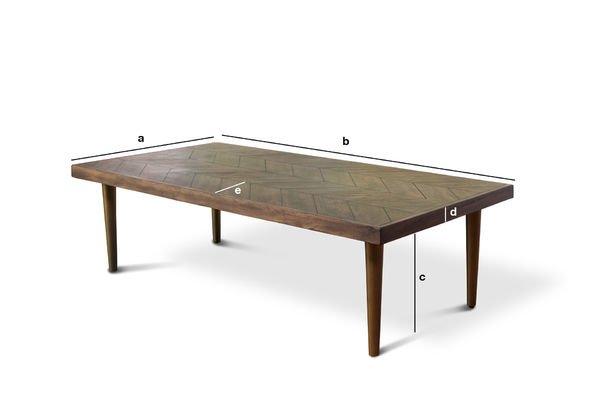 Dimensions du produit Table basse Alienor