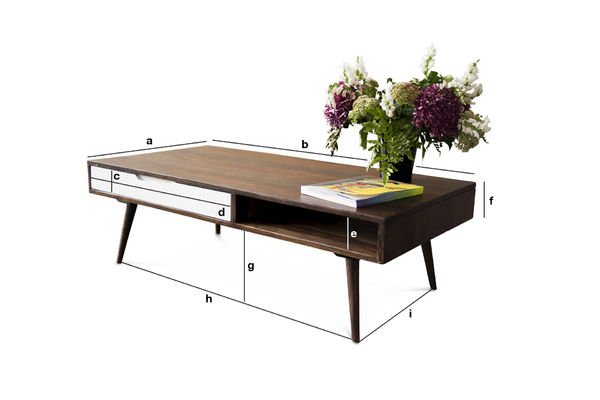Dimensions du produit Table basse Brown'n White