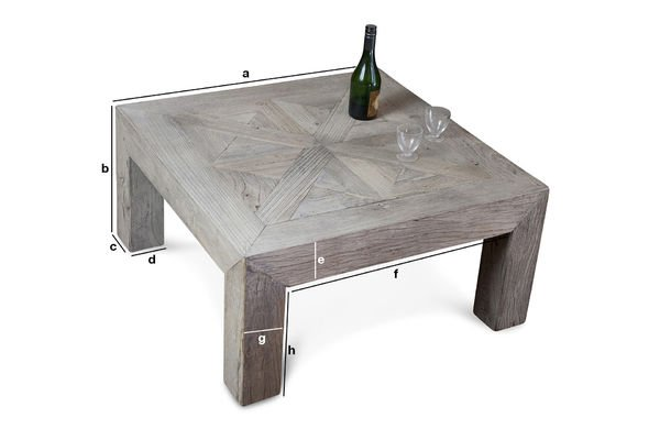 Dimensions du produit Table basse Charpente