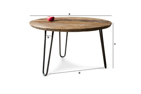 Dimensions du produit Table basse Club