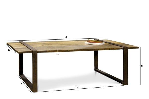 Dimensions du produit Table basse Domancy