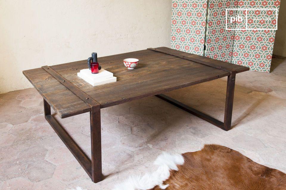 Plateau massif en bois ancien, pour une table 100% indus'