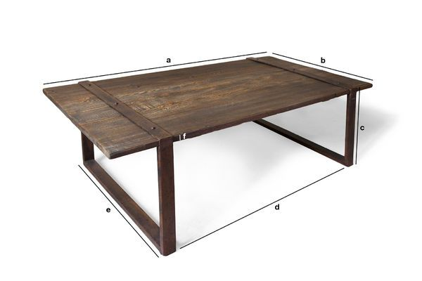 Dimensions du produit Table basse Domancy