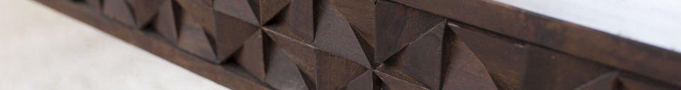 Mise en avant matière Table basse en bois Balkis