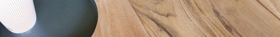 Mise en avant matière Table basse en bois Bascole