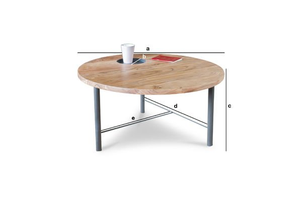 table basse en bois bascole ligne sobre et pi tement pib. Black Bedroom Furniture Sets. Home Design Ideas