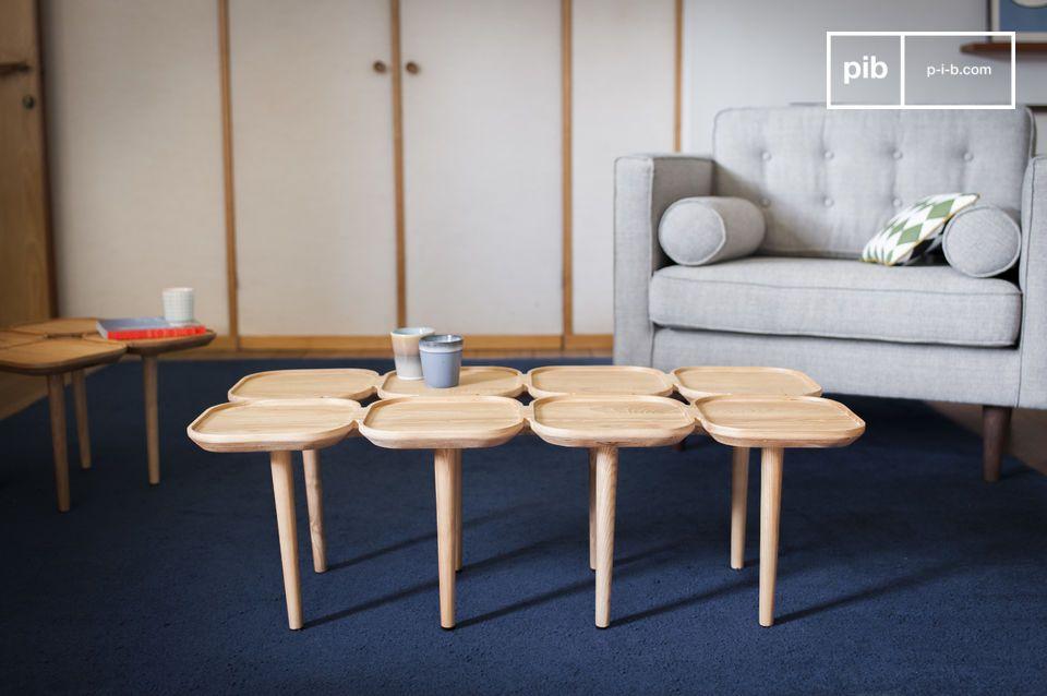 Une table basse originale à plateaux multiples
